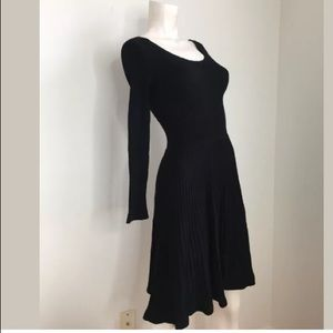 Rebecca Taylor Fit & Flare Sweater Dress